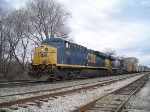 CSX 806 with a broken headlight already