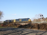 CSX 812 & 449 as seen from a public parking lot along the James River