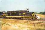 ALFR 1611 sits with mate 1614 at Andalusia, AL during the line's relatively shortlived ownership by Pioneer Rail, before reverting back to G&O interests.  Ken Roble photo taken in 1998