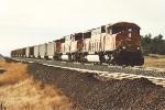 Loaded coal train eases downgrade