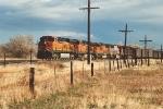 Westbound coal train waits