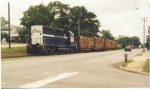 GSWR 1352 leads Gilman Paper pulpwood loads through Cusseta GA in the early 1990s