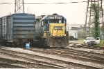 CSX transfer prepares to leave NS yard