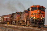 BNSF 7574 hits the high iron with a fresh crew
