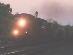 CSX train at dusk