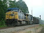CSX 122 leads this coal train through Parke Jct