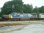 CSX 7658 working the yard