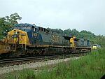 Train Q199 awaiting a crew