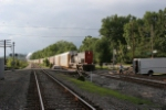 IORY train moves east past Addyston and past surprised track workers