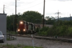 CFE 3889 leads a local into Valley Junction yard from the branch to Brookville