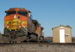 Westbound BNSF Bare Table Flat Train