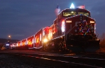 Holiday Train at Dusk