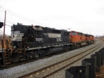 NS 5220 and BNSF 4074