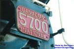 CNR #5700 number plate