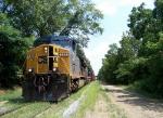 Empty rock train