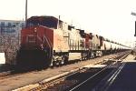 Westbound tanker train