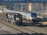 The Pennsylvanian led by Amtrak 45 passes a set of NS SD40-2 helpers