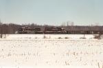 Westbound Wheeling train is east of yard