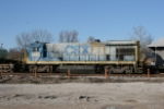 CSX 5569 with work train at Ravenswood