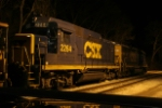 CSX local power tied up for the night at the Point