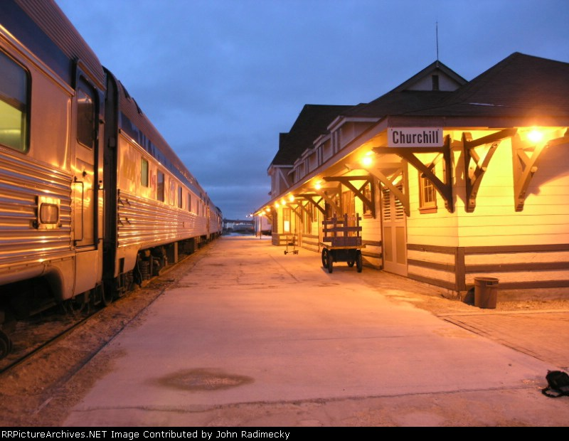 Churchill Depot at night