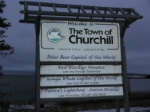 Churchill welcome sign