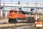 BNSF 9277 leads a southbound coal unit train through the Tower 55 maze
