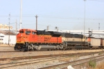 BNSF 9277 leads a southbound coal drag past Tower 55