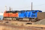 A requisite set of DPU's shoving southbound coal