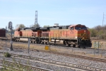 BNSF 4356 and a northbound manifest approached tower 55