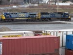 CSX 4566 and 635