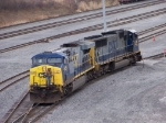 CSX 635 and 4566