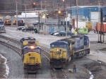 CSX 4566, 635, 9004, and 7820