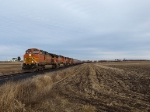 BNSF train, not BNSF rails