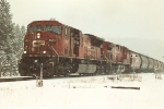 Westbound unit grain train prepares to tackle Kicking Horse Pass