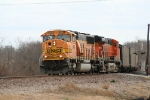 BNSF 9964 leads a TXUX coal drag off the Afton sub