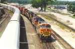 Eastbound stack train enters Argentine Yard