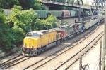 Eastbound coal train passes through the Narrows