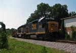 GP35 slug leads a CWR train