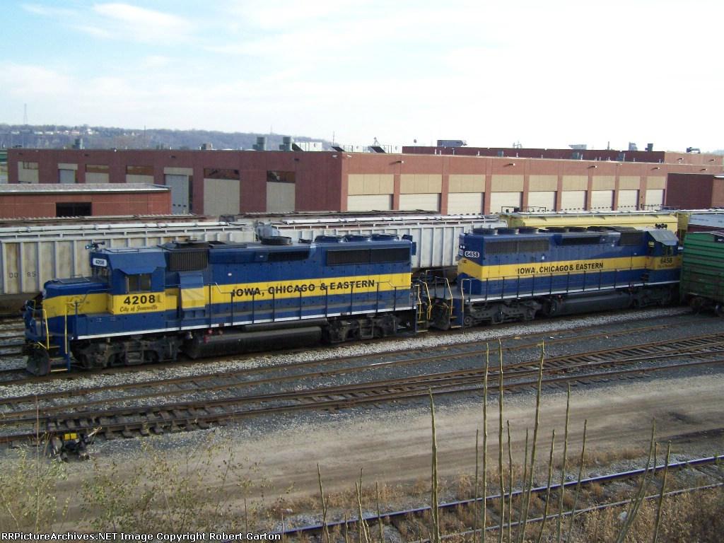 ICE 4208 & ICE 6458 Idle in the IC&E Yard