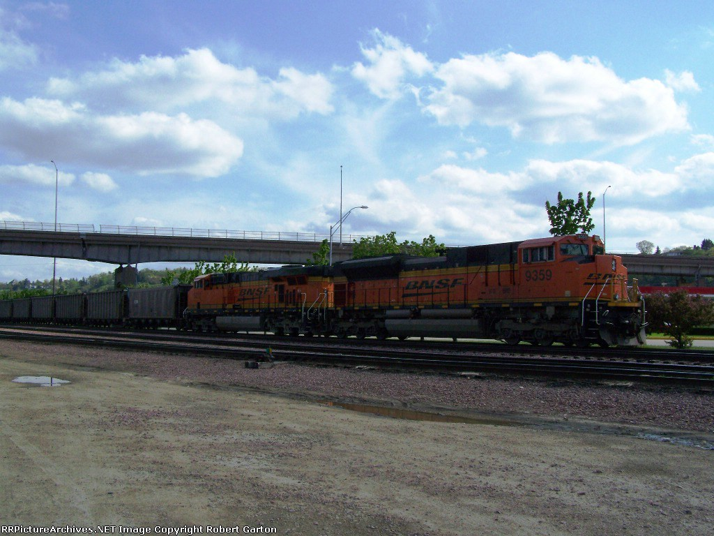 Awesome New BNSF Power on a Coal Train in the CN Yard