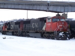 A Pair of EMD SD75Is Rest in the CN Yard
