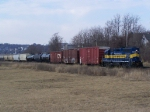 DME 4002 Shoves Cars at the North End of the IC&E Yard