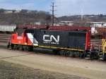 IC 9620 Works a Depleated CN Yard