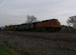 BNSF 4014 Leads a Freight Manifest West on the Aurora Subdivision