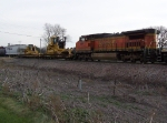 BNSF 866 Helps With a Manifest Train