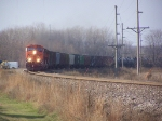 BNSF 7647 Rounds a Curve