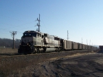 BNSF 9705 Moves Slowly in the Bright Sunlight