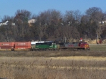 BNSF 773 is Leading a Doublestack Train to Chicago