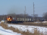 BNSF 4782 With Containers Wrapped Around a Curve